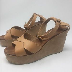 Robert Clergerie Platform Sandals Sz 8-1/2B